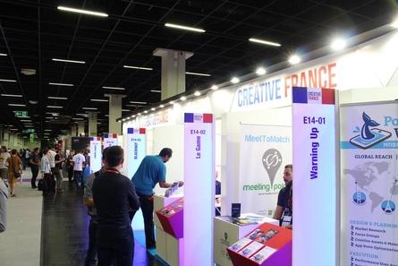 Der französische Gemeinschaftstand auf der Gamescom 2017