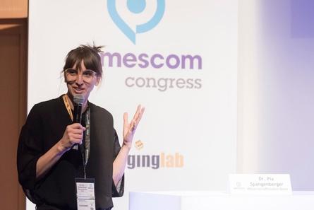 Viele Vortragende kommen aus dem wissenschaftlichen Umfeld so wie Dr. Pia Spangenberger, TU Berlin, die 2017 auf dem gamescom congress auftrat (Archivbild; Koelnmesse)