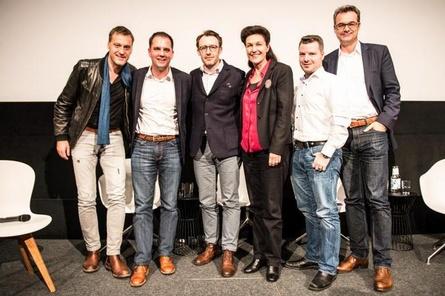 Diskutierten auf dem Professional Day (v. l.): Frank Jastfelder (Sky), Hannes Heyelmann (Turner Broadcasting System), Philipp Steffens (RTL), Prof. Bettina Reitz (HFF München), Thore Vollert (Studio Hamburg Enterprises) und Thomas Sessner (BR)