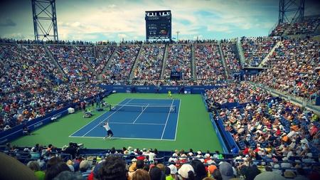 Tennismatch bei den US Open.