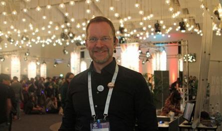 Stephan Reichart auf der diesjährigen Respawn, die im Rahmen der devcom stattfand