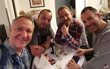 Arbeiten in Verlagsfragen mit BMG zusammen (von links): die Junkx Guido Kramer, Jürgen Dohr, Dennis Bierbrodt und Stefan Dabruck, hier ohne Robin Schulz (Bild: Junkx Music)