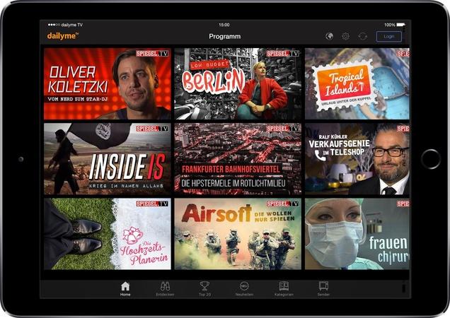 Videomarkt news dailyme tv und spiegel tv erweitern for Spiegel tv video