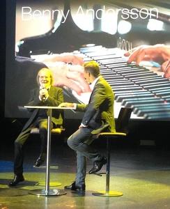 Bei der Eröffnung von Universal Inside in Berlin: Abba-Musiker Benny Andersson (links) und Frank Briegmann (Bild: MusikWoche)