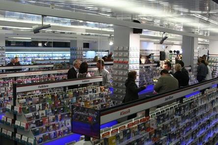 Bietet auf rund 1000 Quadratmetern ein umfangreiches Musik- und Filmangebot: Music World in Erding (Bild: MusikWoche)