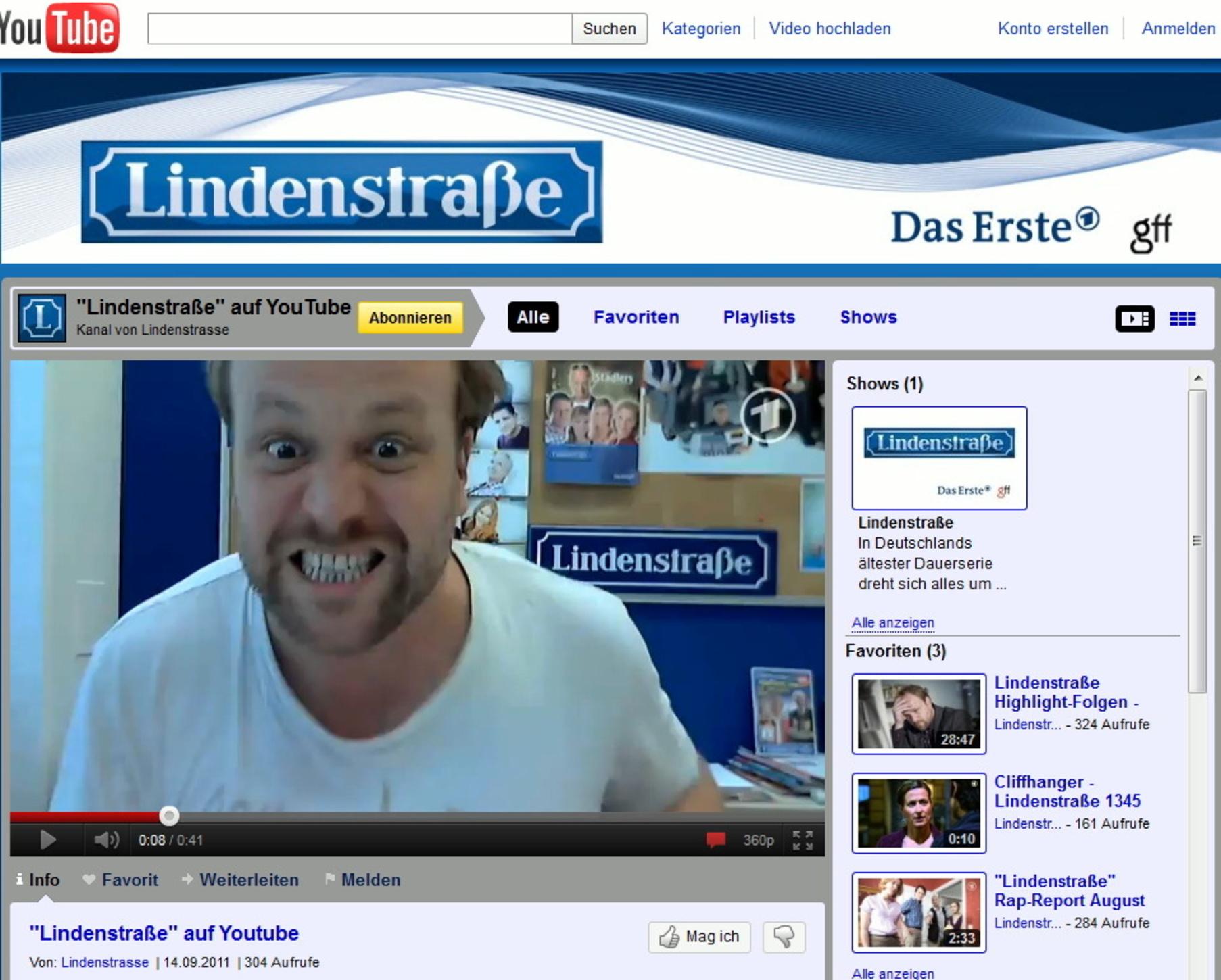 Lindenstraße Mit Eigenem Youtube Kanal
