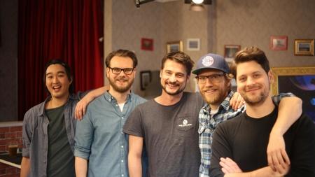 Daniel Budiman, Etienne Gardé, Arno Heinisch, Nils Bomhoff und Simon Krätschmer (v.l.) (Bild: Rocket Beans TV GmbH)