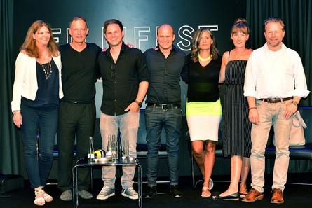 Das Panel (v.r.): Sebastian Andrae, Lisa Giehl, Cornelia Ackers, Christian Bräuer, Doron Wisotzky, Ronald Mühlfellner und Brigitte Drodtloff (Bild: VDD)