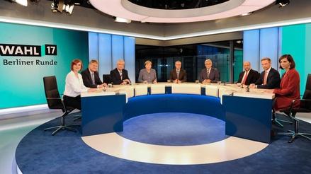 Die Berliner Runde bescherte der ARD Prachtquoten (Bild: ARD-Hauptstadtstudio/Axel Berger)