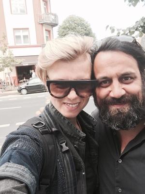 Die Künstlerin und ihr neuer Manager: Anna Ternheim und Arne Ghosh (Bild: 380grad/Anna Ternheim)