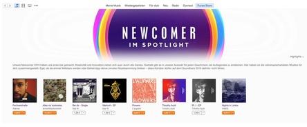 Die Newcomerklasse von 2016: Apple stellt Adesse, AnnenMayKantereit, Timothy Auld, Das W., L'aupaire und Vimes bei iTunes und Apple Music ins Schaufenster (Bild: Apple)