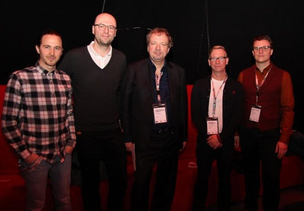 Diskutierten in Groningen (von links): Philipp Jacob-Pahl (Landstreicher), Christian Gerlach (Neuland), Jens Michow (bdv), Ingo Beckmann (Konzertbüro Schoneberg) und Oliver Hoppe (Wizard Promotions) (Bild: MusikWoche)