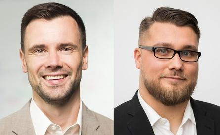 Felix Falk, Geschäftsführer game, und Hans Jagnow, Präsident ESBD (r.) (Bild: Dirk Mathesius/game/ESBD)
