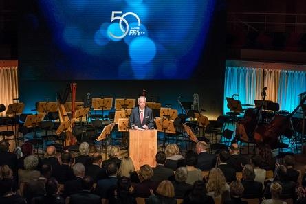 FFA-Präsident Bernd Neumann beschwor in seiner Festrede die Weitsicht, die die Gründungsväter der FFA vor 50 Jahren mit der Schaffung eines Solidarsystems bewiesen hätten (Bild: Ulf Büschleb)