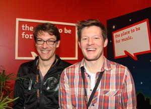 Gehen die Berlin Music Week 2012 mit Schwung an: Projektleiter Bj�rn D�ring (l.) und Kommunikationschef Tommy Nick (Bild: MusikWoche)