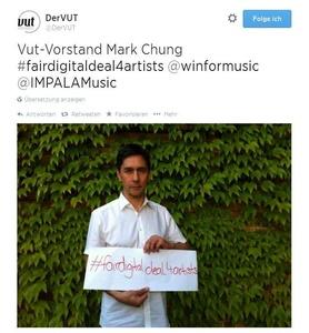 Hat die Fair Digital Deals Declaration unterschrieben: VUT-Vurstand Mark Chung (Bild: twitter.com/DerVUT, Screenshot)