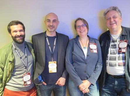 In London vor Ort (von links): Florian Dittrich (Semmel Concerts), Baris Basaran (SSC), Hilde Spille und Rob Berends (beide Paperclip Agency) (Bild: Olaf Furniss)