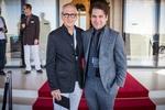 Karl Spoerri heißt Michael Shamberg (links) willkommen (Bild: Ivo Nigro / infotografie.com)