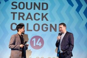 Moderierten die Preisverleihung bei der Soundtrack_Cologne: Ill-Young Kim (links) und Michael P. Aust (Bild: Soundtrack_Cologne)