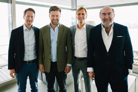 Neu formiertes Team (von links): Timo Steinberg (CFO/COO Edel AG), Jonas Haentjes, Olaf Conrad und Michael Haentjes (Bild: Edel AG)