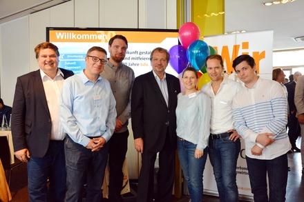 Neu gewählt: der Vorstand mit (von links) Klaus Wollny, Christian Doll, Stephan Thanscheidt, Jens Michow, Ulrike Schirrmacher, Daniel Rothammer und Felix Hansen (Bild: Nadine Lischick)