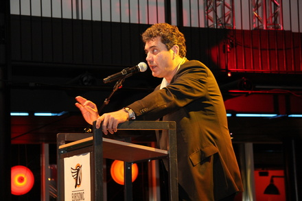 Nimmt den Impala-Preis entgegen: Peter Smidt, Creative Director Eurosonic Noorderslag (Bild: MusikWoche)