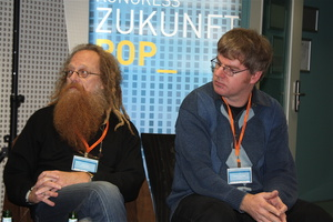 Schreiben, was ihnen am Herzen liegt: Ossi Urchs (links) und Dietmar Schwenger (Bild: MuskWoche)