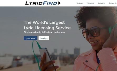 Spielt Songtexte künftig bei Google aus: Lyricfind (Bild: lyricfind.com, Screenshot)