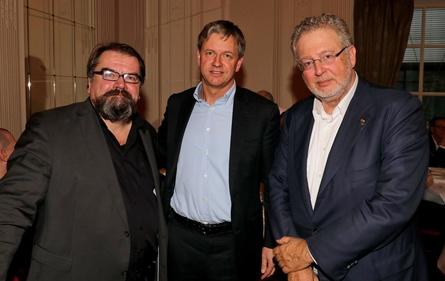 SPIO-Präsident Alfred Holighaus, Jörg Pohlman (Arri) und Martin Moszkowicz (Constantin) (Bild: SPIO/Hercher)