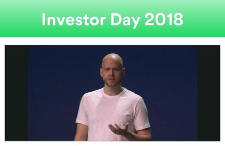 Sprach kürzlich beim Investor Day von Spotify über die Entwicklung des Streamingdienstes: CEO Daniel Ek (Bild: investors.spotify.com/investor-day-2018, Screenshot)