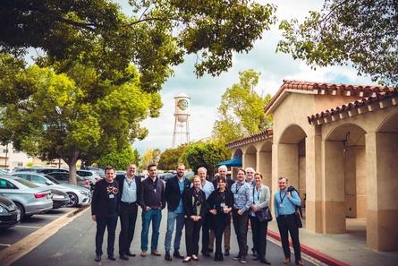 Teilnehmer der deutschen Delegation auf dem Gelände von Warner Bros. (Bild: Michael Hilscher)