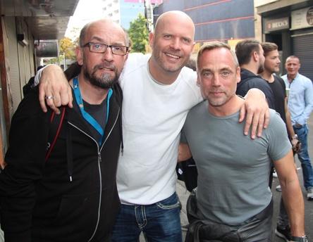 Trafen sich 2016 bemi DJ Meeting @ Reeperbahn Festival (von links): Jörg Böhm, Sven Greiner (7th Sense) und Kontor-Chef Jens Thele (Bild: MusikWoche)