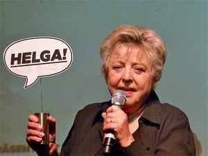 Trat als Stargast beim Helga Festival Award 2014 auf: eine leibhaftige Helga, verkörpert von Marie-Luise Marjan (Bild: MusikWoche)