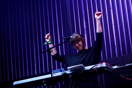 Trat bei der dritten Pop-Kultur auf: Barbara Morgenstern (Bild: Annett Bonkowski)