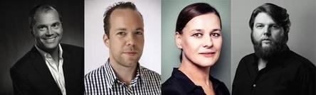 Übernehmen bei Warner Music mehr Verantwortung (von links): Marcus Friedheim, Fabian Drebes, Doreen Schimk und Andreas Weitkämper (Bild: Warner Music)