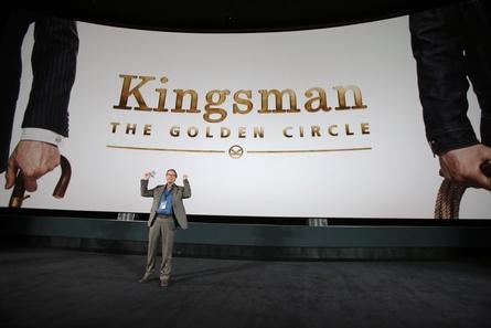 """Und...Action! """"Kingsman: The Golden Circle"""" sorgte für einen krachenden Auftakt der Fox-Präsentation (Bild: Dirk Dobiey)"""