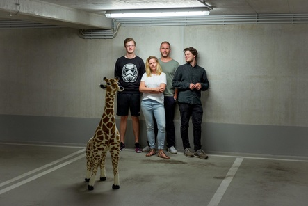Vertrauen beim Vertrieb künftig auf Indigo (von links): Das Weltgast-Team um Tristan Heming, Jennifer Schild, Sebastian Limberg und Lukas Vogt (Bild: Weltgast)