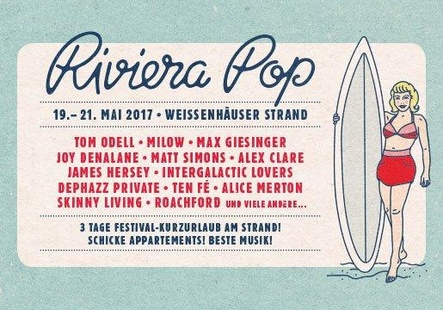 Zog nicht wie gewünscht: Plakat zu Riviera Pop mit dem geplanten Line-up (Bild: Karsten Jahnke Konzertdirektion)
